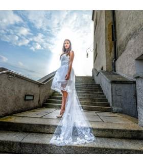 Corto sexy abito da sposa