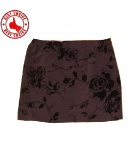 Brocade chocolate skirt