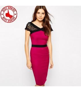 Strecken-Satin-Kleid