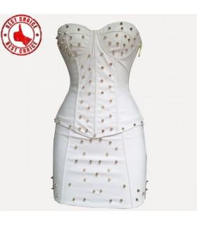 Sexy Korsett und Rock Weiß Mode