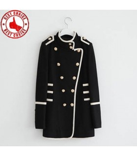 Fashion double breasted coat