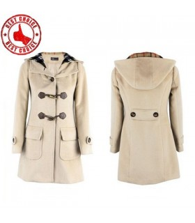 Big pockets horn button coat