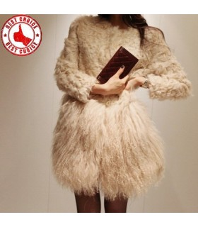 Stylish fur tassels coat