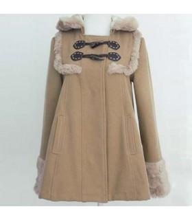 Khaki süßen Stil Mantel