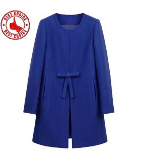 Blue fashion women coat