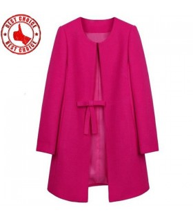 Pink fashion women coat