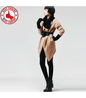 Cappotto di moda stile cintura piccola
