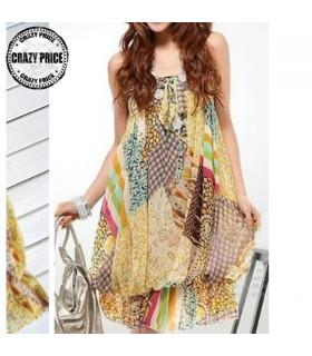 Gipsy style chiffon dress