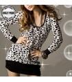 Schlaufknoten langes dalmatinisches Zurückärmel-Kleid