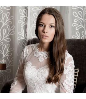 Breve stringa maniche lunghe sexy abito da sposa