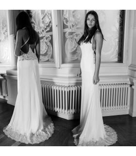 Sirène crystal dos ouvert robe de mariée sexy