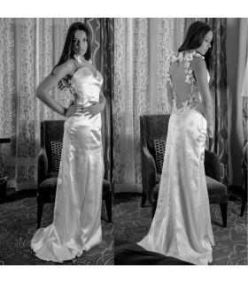 Esotico di fantasia indietro sexy abito da sposa