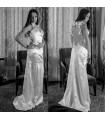 Fancy exotic back sexy wedding dress