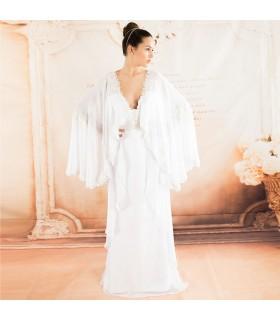 Magnifique robe à manches longues robe de mariée sexy de mariage