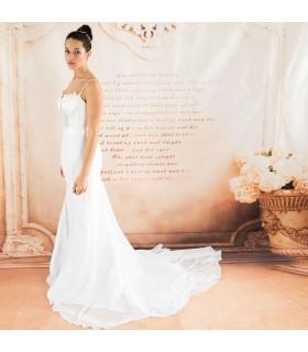Exotique spaghetti rayures robe de mariée sexy