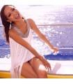 White fringe summer dress