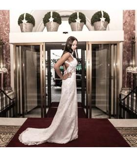 Sirène de lacet robe de mariée sexy dos nu