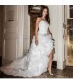 Front court longtemps arrière robe de mariée sexy moderne