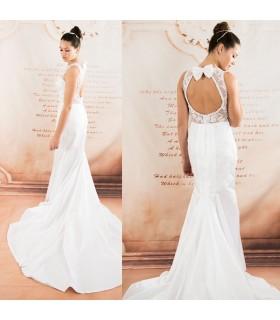 Détachable tulle sirène superbe robe de mariée sexy