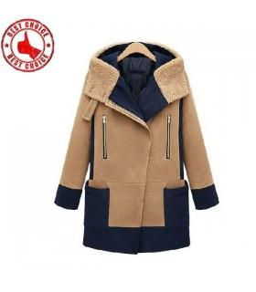 Moderne manteau de laine des fermetures à glissière