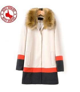 Mode manteau de couleur