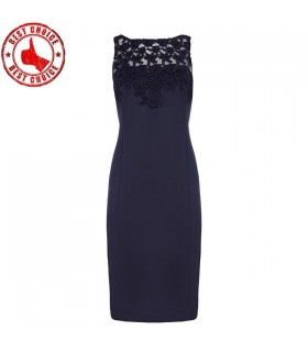 Schwarze Spitze sexy Kleid