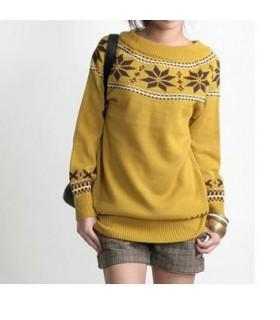 Gelbe Schneeflocke Pullover