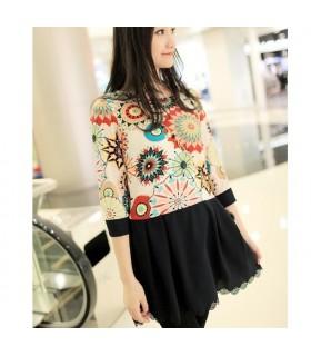 Mode gedruckt Kleid