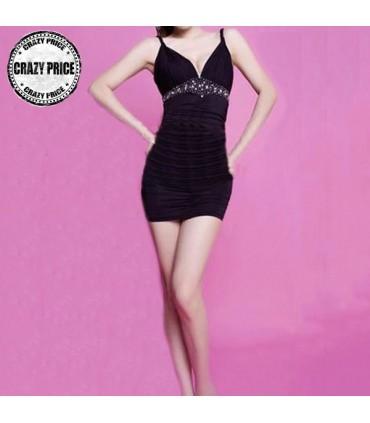 07cbee44f1 Deep V-neck sexy dress