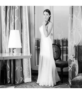 Romantico grande giro sexy abito da sposa