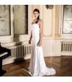 Impressive lace appliques chiffon sexy wedding dress