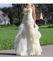 Klassische Elfenbein Prinzessin Stil Hochzeitskleid