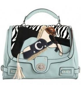 Modische Handtasche in Zebraoptik
