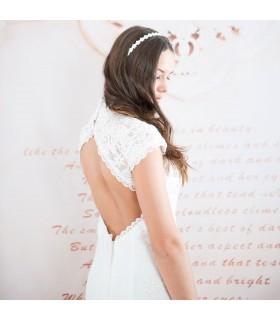 Robe de mariée sexy retour vide de dentelle
