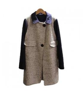 Bloc couleur manteau nouveau style