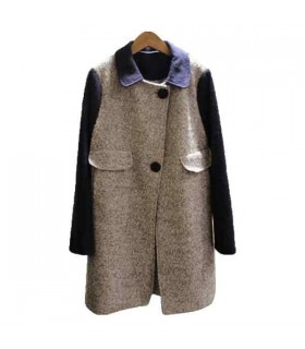 New style color block coat