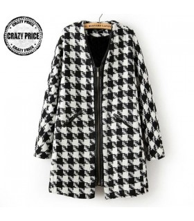 Black&White zipper coat
