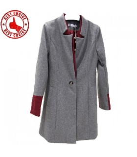 Stand collar one button coat