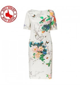 White romantic flower print dress