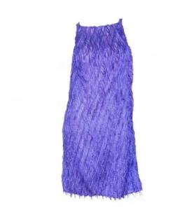 Lila Fransen Kleid