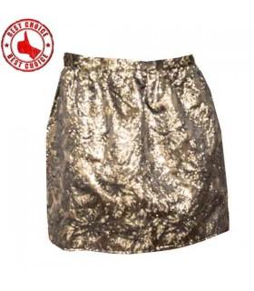 Mini jupe brocard doré