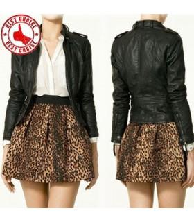 Imprimé léopard jupe taille élastique