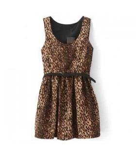 Robe extensible imprimée léopard sexy