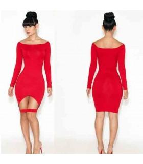 Sexy rot ausgeschnitten Bodycon Kleid