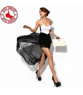 Asymmetrischen Rücken Reißverschluss Kleid