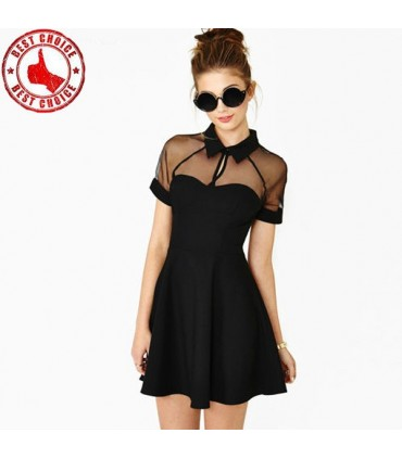best service 6e3fd 7ed4f Chiffon Vintage aushöhlen schickes Kleid
