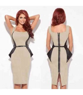 Bodycon fitted back zipper sexy dress