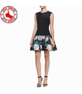 Fleurs coupées nouvelle conception robe moderne