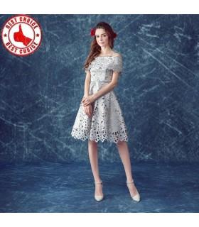 Spitze Schulterfrei Kleid