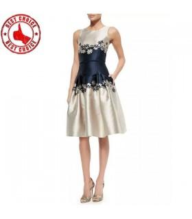 Designer floral print dress
